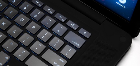 ColorWare Stealth MacBook Pro in matte black keys