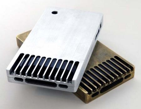 EXOvault Solid Metal Case for iPhone back