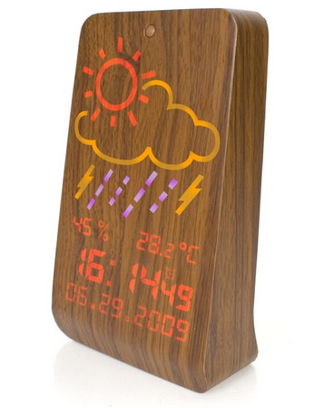 Firebox WoodStation Wooden Weather Station
