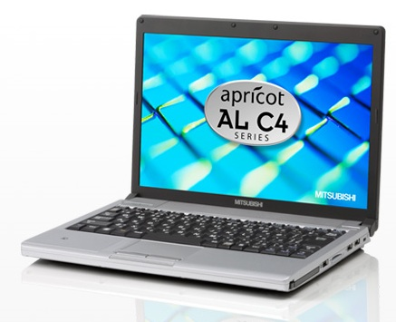 Mitsubishi Apricot AL C4 Series Ultraportable Notebook for Business