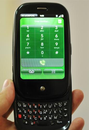 Palm Pre GSM Version live shot  QWERTY keyboard