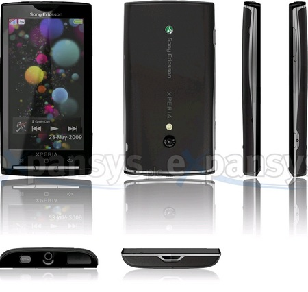 Sony Ericsson XPERIA X3 Android Phone Detailed on expansys