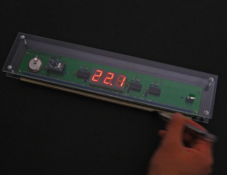 Wooden Electronic Ruler with Display