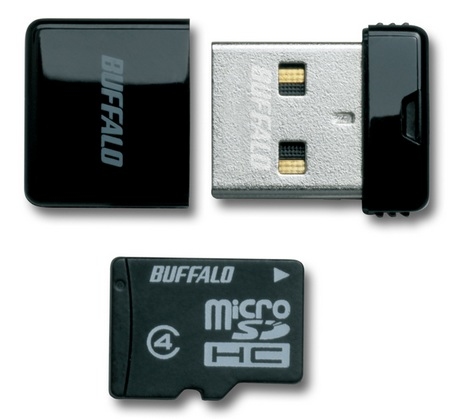 Buffalo RMUM-H Ultra Tiny USB Drive-microSDHC Reader Black