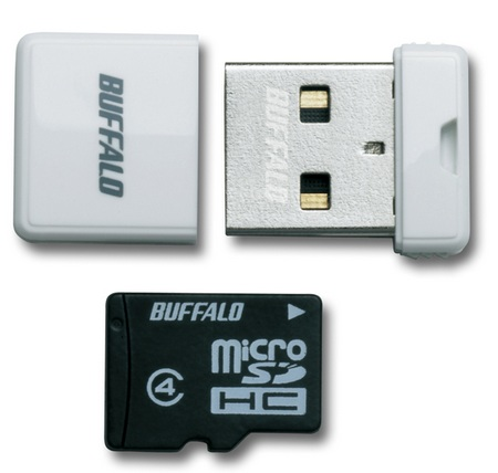 Buffalo RMUM-H Ultra Tiny USB Drive-microSDHC Reader white