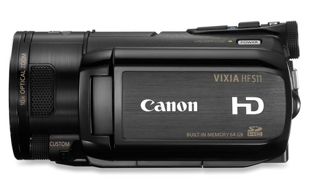 Canon VIXIA HF S11 Full HD Camcorder side