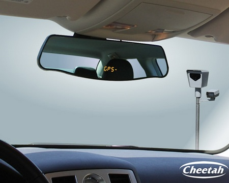 Cheetah GPSMirror Speed/Red Light Camera Detector in car