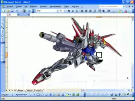 How to Draw a Gundam in Microsoft Excel