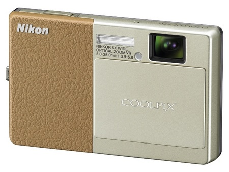 Nikon CoolPix S70 Touchscreen Camera Champagne & Light Brown