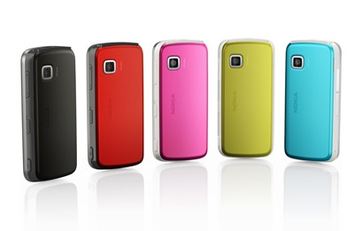 Nokia 5230 Entry-level Touchscreen Phone colors
