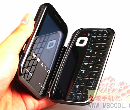 Nokla E97 Stylish Knock-off Phone on hand