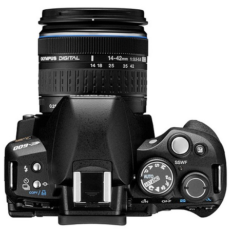 Olympus E-600 Entry-Level DSLR top