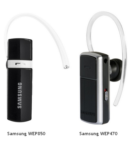 Samsung WEP850 and WEP470 Bluetooth Headsets