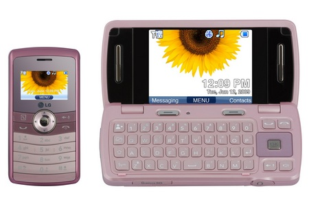Telus LG Keybo 2 CDMA QWERTY Phone Pink
