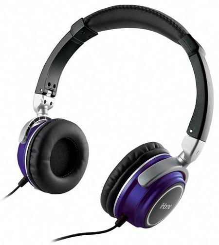 iHome iHMP5 2-in-1 Headphones Portable Speakers purple