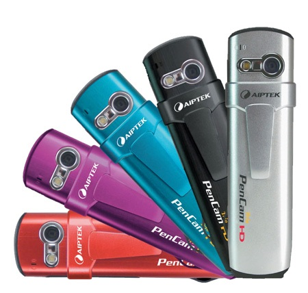Aiptek PenCam HD Trio Pen-like 720p Camcorder colors