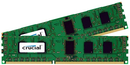 Crucial DDR3-1333MHz 1GB and 2GB ECC and non-ECC UDIMM memory modules