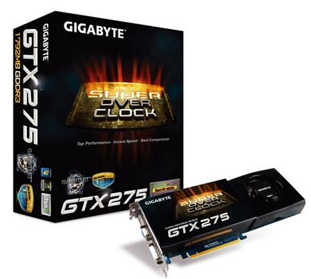 Gigabyte GV-N275SO-18I GeForce GTX 275 Graphics Card