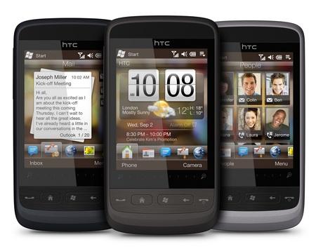 HTC Touch2 runs Windows Mobile 6.5 colors