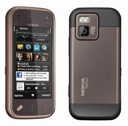 Nokia N97 mini QWERTY Phone back and front