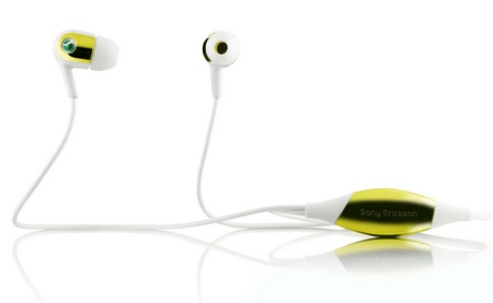 Sony Ericsson MH907 Motion Activated Headphones yellow