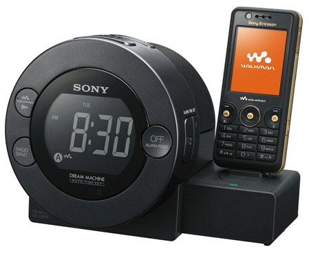 Sony ICF-C8WM Clock Radio also a charger for SE phones and Walkman players
