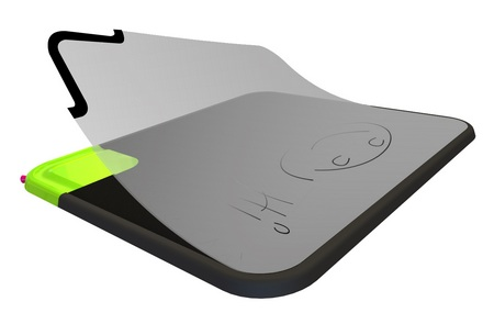 quirky Scratch-n-Scroll Noteable Mousepad erase