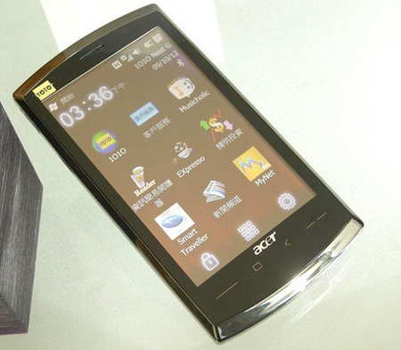 Acer neoTouch SnapDragon WM6.5 Smartphone live front