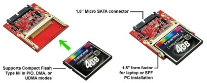 Addonic Micro SATA CF adapter how it works
