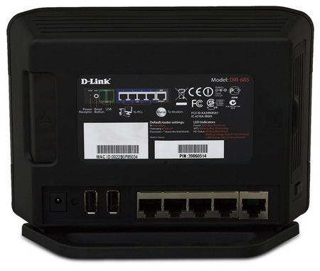 D-Link Xtreme N DIR-685 Router with built-in Photo Frame back