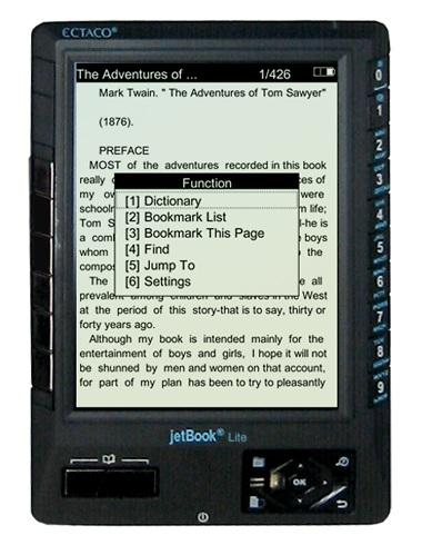 ECTACO jetBook-Lite  - most affordable eBook Reader