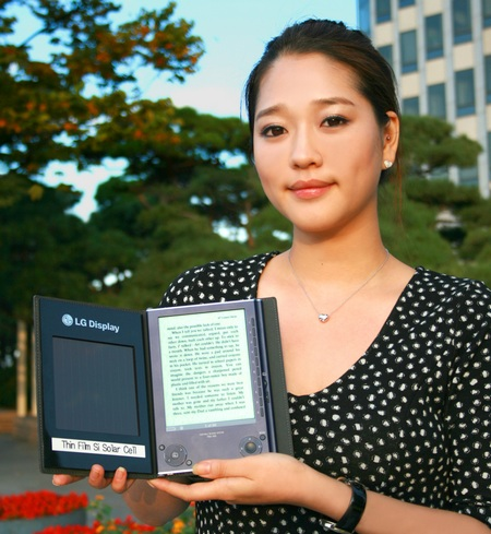 LG Solar Cell e-Book reader