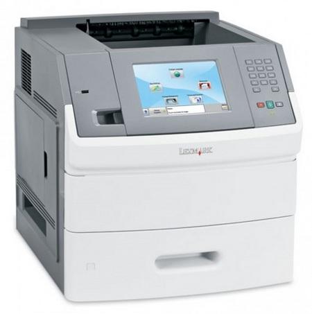Lexmark T656dne monochrome laser printer with touchscreen