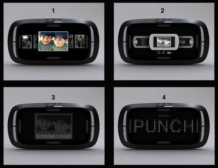 Punch Camera LCD display