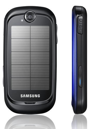 Samsung Blue Earth Solar Phone side back