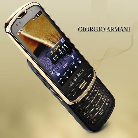 Samsung GIORGIO ARMANI SPH-W8200 Touchscreen Slider