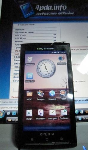 Sony Ericsson XPERIA X3 Live Shot