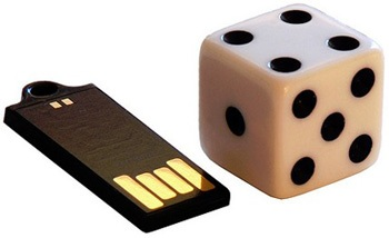 Active Media Waterproof Wink USB Flash Drive compare to dice