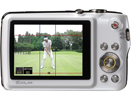 Casio Exilim EX-FS10S-WE Camera White back