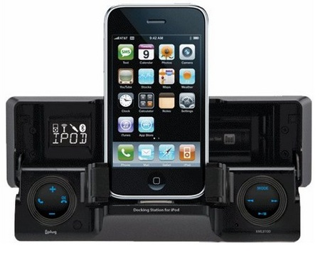 Dual XML8110 in-dash iPhone iPod Dock opened