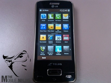 LG Monaco IQ Spotted, with Telus logo vertical
