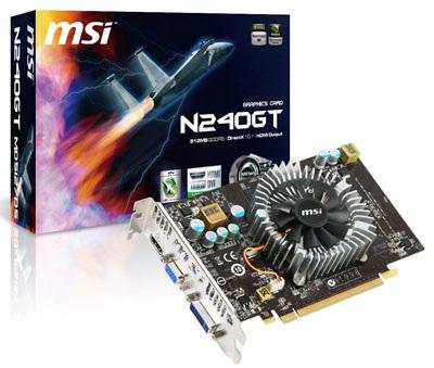 MSI N240GT Series Graphics Cards