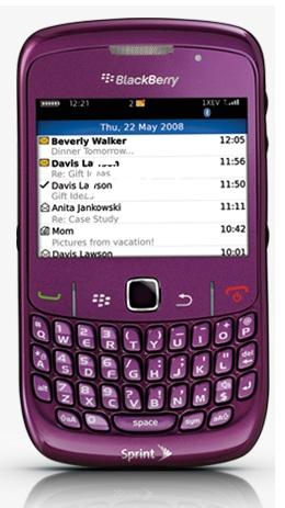 Sprint BlackBerry Curve 8530 Royale Purple smartphone