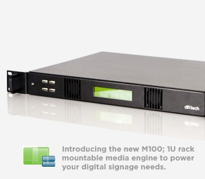 dfiTech M100 Media Engine for Digital Signage applications