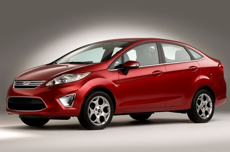 2011 Ford Fiesta with 40mpg fuel economy red