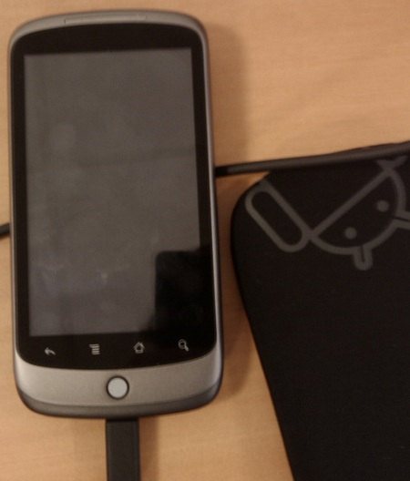 Google Nexus One Live Shot with case