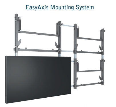 Planar Clarity Matrix LCD Video Wall System in-wall service EasyAxis mounting