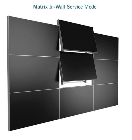 Planar Clarity Matrix LCD Video Wall System in-wall service