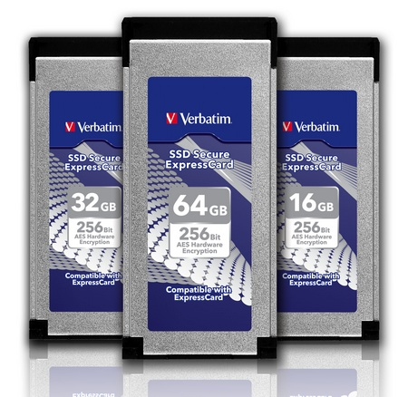 Verbatim SSD Secure ExpressCard with AES 256-bit hardware encryption