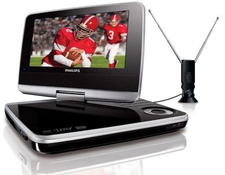 Philips PET749 Portable DVD Player also as Portable TV